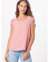 Vila Pink Blusentop 'VIOLLI S/S TOP'