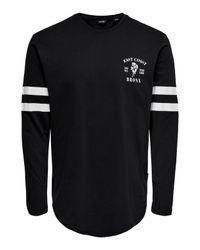 Only & Sons T-Shirt in Black für Herren