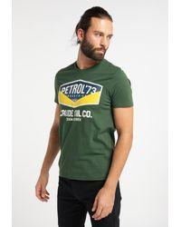 Petrol Industries T-Shirt in Green für Herren