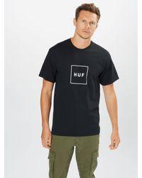 Huf T-Shirt in Black für Herren