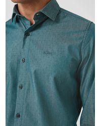 S.oliver Hemd in Blue für Herren