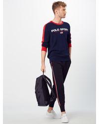 Polo Ralph Lauren Pullover 'COTTON-LS CN' in Blue für Herren