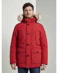 Tom Tailor Winterparka in Red für Herren