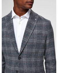 SELECTED Slim Fit Blazer in Gray für Herren
