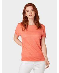 Tom Tailor Denim Orange T-Shirt