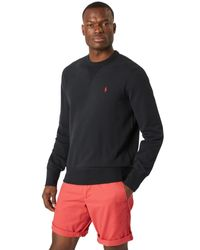 Polo Ralph Lauren Shirt 'LSCN M1-LONG SLEEVE-KNIT' in Black für Herren