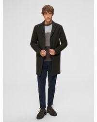 SELECTED Mantel in Black für Herren