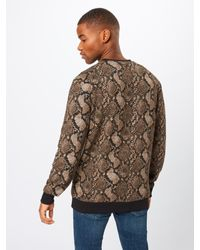 Only & Sons Sweatshirt 'ONSSNAKE JACQUARD' in Brown für Herren