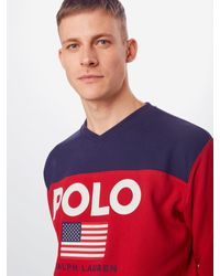 Polo Ralph Lauren Sweatshirt 'LSVNM1-LONGSLEEVE-KNIT' in Multicolor für Herren