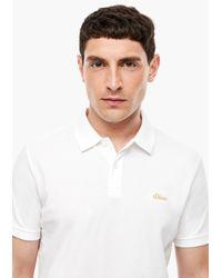 S.oliver Poloshirt in White für Herren