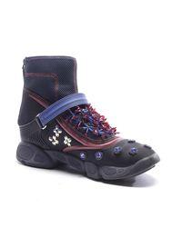 Dior Blue High-Top Sneaker