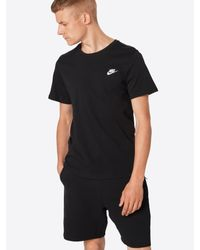 Nike T-Shirt 'Club Embrd Futura' in Black für Herren