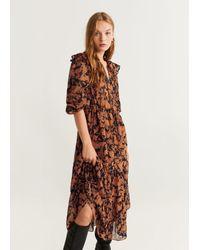 Mango Brown Kleid 'Velaz'