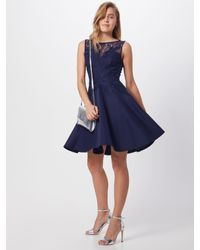 Lipsy Blue Kleid 'WS NVY 3D LCE PROM'