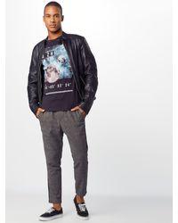 Only & Sons Shirt 'onsALEC SS FITTED TEE' in Blue für Herren