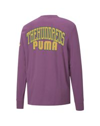 PUMA Shirt 'The Hundreds' in Purple für Herren