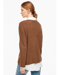 S.oliver Brown Pullover
