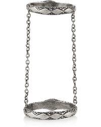 Pamela Love - Metallic Chain Serpent Silver Sapphire Ring - Lyst