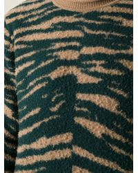 Marc Jacobs Natural Zebra Pattern Textured Sweater for men