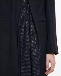 Ann Demeulemeester - Black Double Collar Coat - Lyst