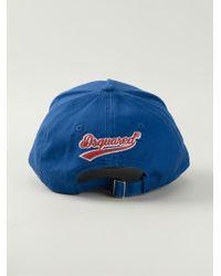 DSquared² | Blue Printed Baseball Cap for Men | Lyst