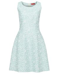 HUGO - Green Sleeveless Dress In Cotton Blend: 'keliko' - Lyst