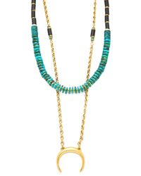 Lizzie Fortunato - Blue The Snake Charmer Covertible Necklace - Turquoise Multi - Lyst
