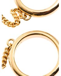 Chloé - Metallic Carly Double-Chain Ring - Lyst