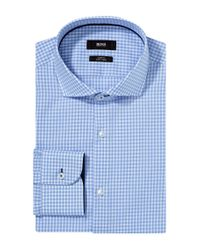 BOSS Blue Slim Fit Business Shirt 'jerry' In Easy-iron Cotton for men