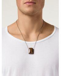 Joseph Brooks | Brown Flourite Pendant Necklace for Men | Lyst
