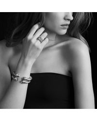 David Yurman - Metallic Labyrinth Ring with Diamonds - Lyst