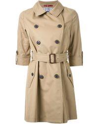 Loveless Brown Half Sleeve Trench Coat