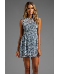 Dolce Vita | Dv By Eniko Lace Print Dress in Blue | Lyst