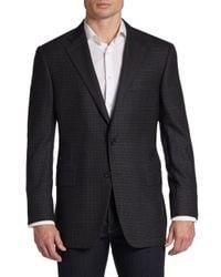 Hickey Freeman - Gray Wool Glen Plaid Two Button Sport Coat for Men - Lyst