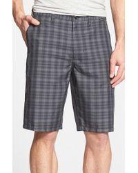 Hurley Black 'aliso' Plaid Dri-fit Shorts for men