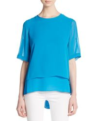 Chaus New York | Blue Double Layered Top | Lyst