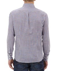 Brunello Cucinelli - Blue Checked Slimfit Shirt for Men - Lyst