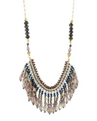 Nakamol - Multicolor Beaded Crystal Fringe Bib Necklace - Lyst