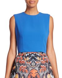 Alice + Olivia - Blue Klynn Crop Top - Lyst