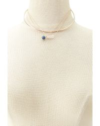 Forever 21 - Metallic Faux Stone Collar Necklace - Lyst