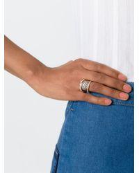 KENZO | Metallic Crystal Embellished Ring | Lyst