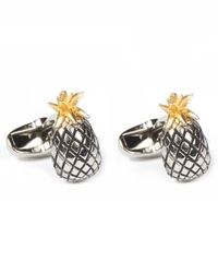 Paul Smith | Metallic Silver-tone Pineapple Cufflinks for Men | Lyst