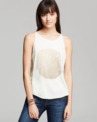 Wildfox Yellow Tank The Perfect Currency Sand Dollar