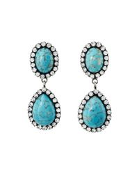 DANNIJO | Blue Cash Earrings | Lyst