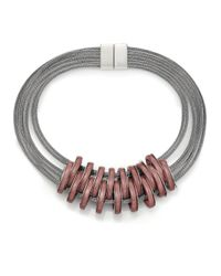 Lafayette 148 New York | Purple Rings Mesh-chain Necklace | Lyst