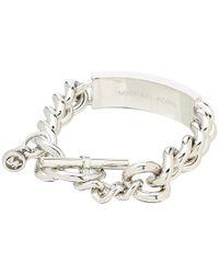 Michael Kors   Metallic Pave Plaque Toggle Bracelet   Lyst