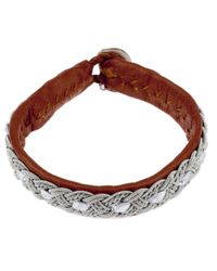 Maria Rudman - Brown Woven Chain Detail Bracelet - Lyst