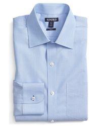 Bonobos | Blue 'daily Grind' Slim Fit End-on-end Dress Shirt for Men | Lyst
