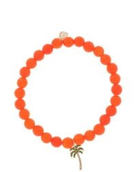 Sydney Evan | Orange Agate Palm Tree Bracelet | Lyst