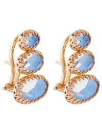 Larkspur & Hawk - Blue Topaz Tessa Climbing Earrings - Lyst
